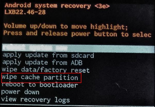 clear_cache_partition_on_Moto_G_and_Moto_X_after_Android_Lollipop_update_4_recovery_mode_menu